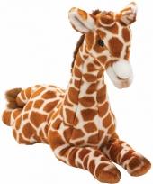 Pluche giraffe knuffel liggend 35 cm