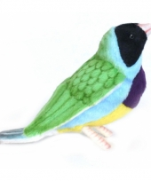 Pluche gouldamadine vogel 11 cm 10050740