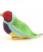 Pluche gouldamadine vogel 11 cm