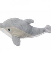 Pluche grijze dolfijn knuffel 34 cm