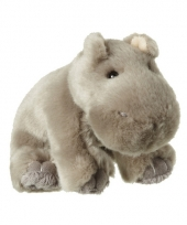 Pluche grijze nijlpaarden knuffel 12 cm