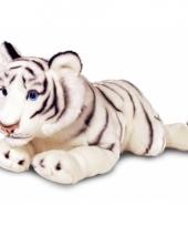 Pluche grote witte tijger 100 cm