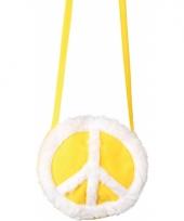 Pluche hippie tas geel
