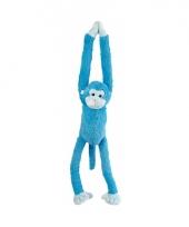 Pluche knuffel blauw aap 55 cm