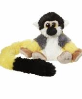 Pluche knuffel eekhoorn aapjes 16 cm