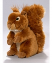 Pluche knuffel eekhoorn zittend 23cm