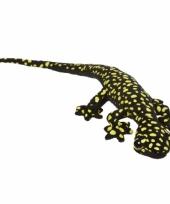 Pluche knuffel gekkos 62 cm geel