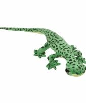 Pluche knuffel groen gekkos 62 cm