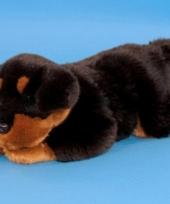 Pluche knuffel hond rottweiler 33cm