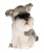 Pluche knuffel hond schnauzer 13 cm