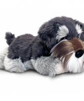 Pluche knuffel hond schnauzer 30 cm