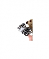 Pluche knuffel luipaard vingerpopje