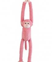 Pluche knuffel roze aap 55 cm