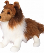Pluche knuffel shetland sheepdog hond 41 cm