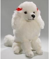 Pluche knuffel witte poedel 30 cm