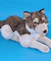 Pluche knuffel wolf 40 cm