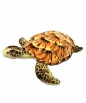 Pluche knuffel zeeschildpad 34 cm