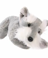Pluche knuffelbeest grijze terrier