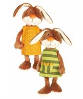 Pluche konijntje met verwisselbaar jurkje 40 cm