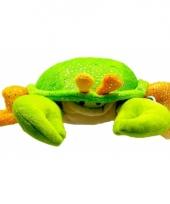 Pluche krab knuffel groen oranje 23 cm