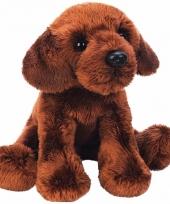 Pluche labrador knuffel hond bruin 12 cm