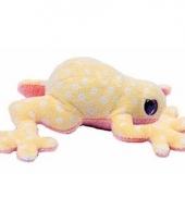 Pluche licht gele kikker knuffel 15 cm