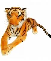 Pluche liggende tijger knuffeldier 100 cm