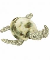 Pluche liggende zeeschildpad knuffel 35 cm