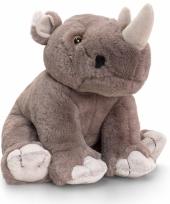 Pluche neushoorn knuffeltje 25 cm
