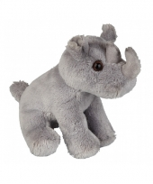 Pluche neushoorn zittend 15 cm