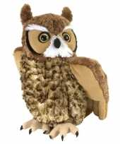 Pluche oehoe uil knuffel 30 cm