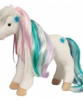 Pluche paarden knuffel multicolor 30 cm