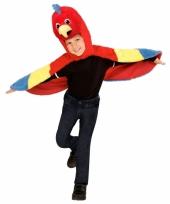 Pluche papegaaien verkleedkleding kids