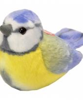 Pluche pimpelmees vogel knuffeltje