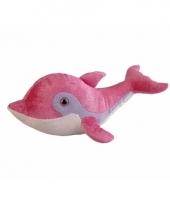 Pluche roze dolfijn knuffel van 33 cm