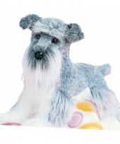 Pluche schnauzer hond 41 cm