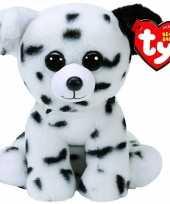 Pluche ty beanie dalmatier honden knuffel spencer 15 cm