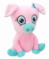 Pluche varken knuffel roze 26 cm