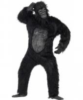 Pluche verkleed kleding gorilla