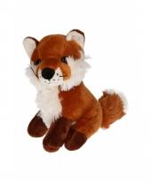 Pluche vossen knuffel zittend 20 cm