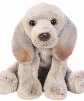 Pluche weimaraner grijs knuffel hond 13 cm