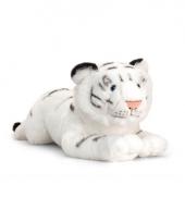 Pluche witte liggende tijger 46cm