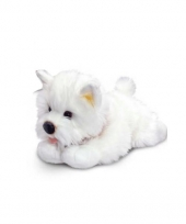 Pluche witte terrier knuffel 30 cm