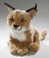 Pluche woestijn lynx knuffel 28 cm