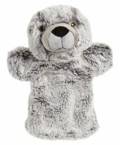 Pluche zeehond handpop 22 cm