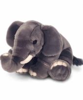 Pluche zittende olifant knuffel 110 cm