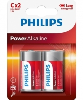 Plus power lr14 c batterijen 2 stuks