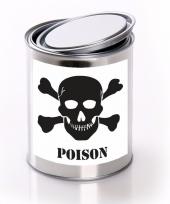Poison gif etiket met met lege blik