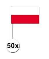 Polen zwaai vlaggetjes 50 stuks
