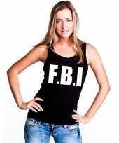 Politie fbi singlet zwart dames